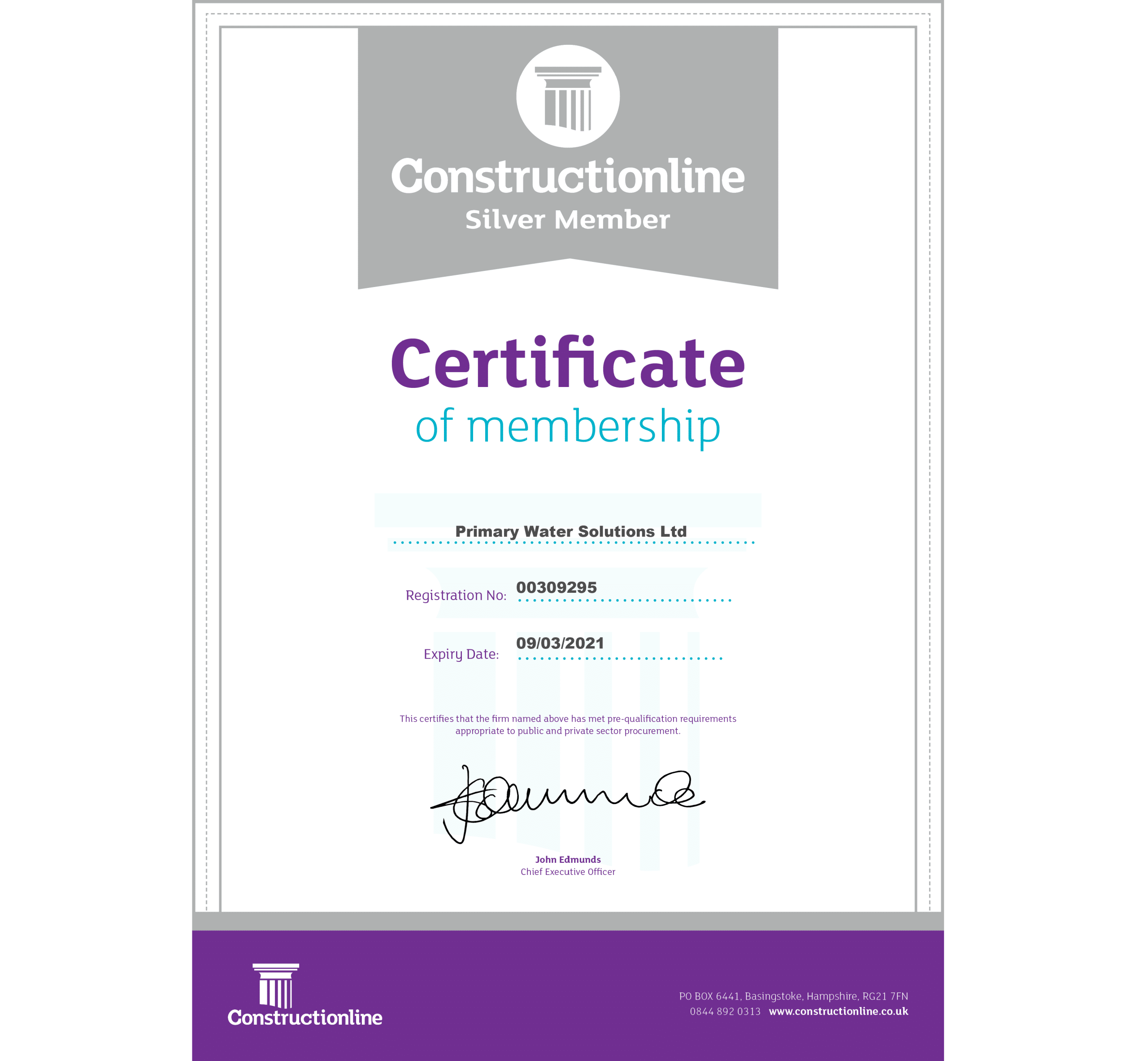 We have renewed our Constructionline accreditation
